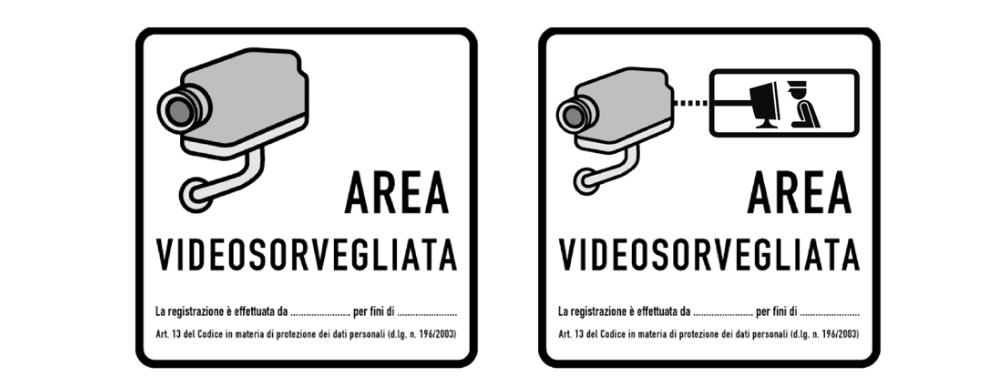 cartelli per la videosorveglianza